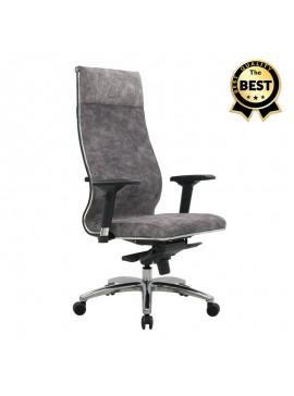 Καρέκλα γραφείου Samurai Lux εργονομική με ύφασμα velour σε χρώμα marble γκρι 70x70x124/134εκ. GP008-0040