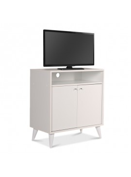Έπιπλο TV - ντουλάπι - παπουτσοθήκη 6 ζεύγων London Megapap δίφυλλο σε λευκό 73x42x79εκ. GP009-0001
