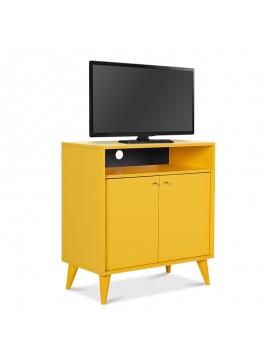 Έπιπλο TV - ντουλάπι - παπουτσοθήκη 6 ζεύγων London Megapap δίφυλλο σε κίτρινο 73x42x79εκ. GP009-0002