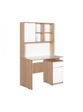 Γραφείο Plus Megapap σε χρώμα sonoma - λευκό 105x56x170εκ. GP009-0015
