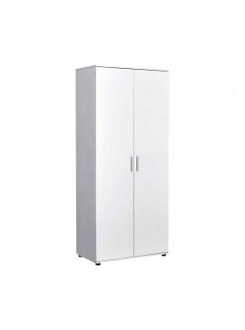 Ντουλάπα ρούχων Trendline Megapap δίφυλλη σε χρώμα λευκό 80x47x187εκ. GP009-0017