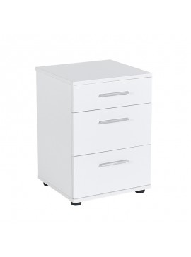 Κομοδίνο - συρταριέρα γραφείου Trendline Megapap σε χρώμα λευκό 40x39x57εκ. GP009-0027