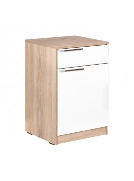 Κομοδίνο - συρταριέρα γραφείου Plus Megapap σε χρώμα sonoma - λευκό 40x38x63εκ. GP009-0030