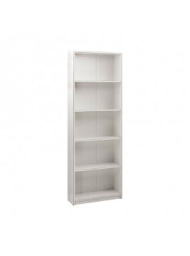 Βιβλιοθήκη Max Megapap σε χρώμα λευκό 58x23x170εκ. GP009-0036