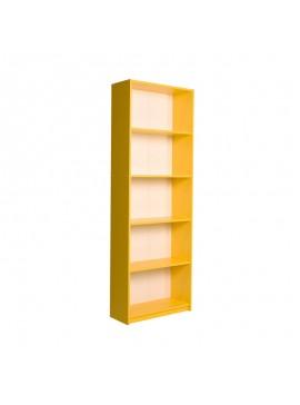 Βιβλιοθήκη Max Megapap σε χρώμα κίτρινο 58x23x170εκ. GP009-0037