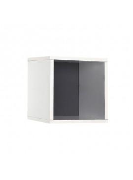 Βιβλιοθήκη στοιβαζόμενη Flat Megapap σε χρώμα λευκό 33x19x33εκ. GP009-0058