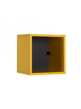 Βιβλιοθήκη στοιβαζόμενη Flat Megapap σε χρώμα κίτρινο 33x19x33εκ. GP009-0059