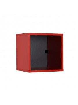 Βιβλιοθήκη στοιβαζόμενη Flat Megapap σε χρώμα κόκκινο 33x19x33εκ. GP009-0060