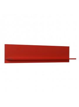 Διακοσμητική ραφιέρα τοίχου Flat Megapap σε χρώμα κόκκινο 120x20x25εκ. GP009-0064