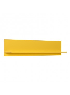 Διακοσμητική ραφιέρα τοίχου Flat Megapap σε χρώμα κίτρινο 120x20x25εκ. GP009-0066