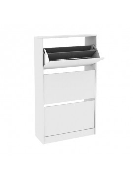 Παπουτσοθήκη Flat Duo Megapap 18 ζεύγων σε χρώμα λευκό 73x26x119εκ. GP009-0087