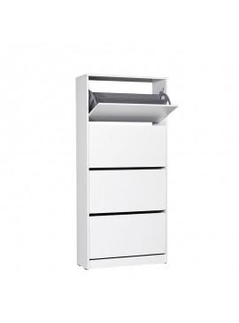 Παπουτσοθήκη Flat Duo Megapap 24 ζευγών σε χρώμα λευκό 73x26x157εκ. GP009-0090
