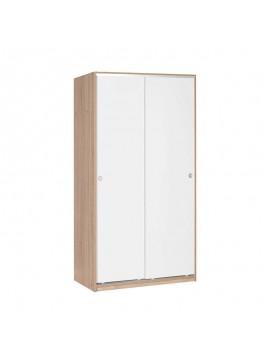 Ντουλάπα ρούχων Slide Megapap συρόμενη σε χρώμα λευκό - sonoma 94x52x182εκ. GP009-0103