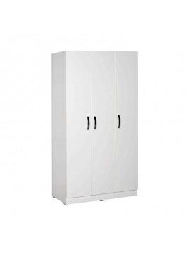 Ντουλάπα ρούχων Bodrum Megapap τρίφυλλη σε χρώμα λευκό 91x47x182εκ. GP009-0114