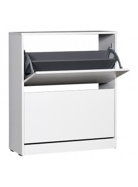 Παπουτσοθήκη Flat Megapap 12 ζεύγων σε χρώμα λευκό 73x26x84εκ. GP009-0128
