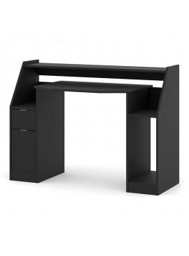 Γραφείο εργασίας Jimmy Megapap σε χρώμα μαύρο 123,2x45x90,5εκ. GP012-0010