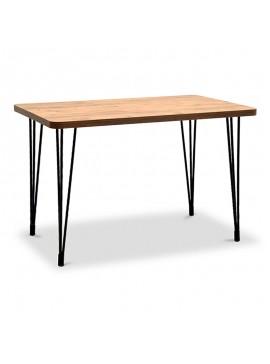 Τραπέζι Rocky Megapap με μεταλλικό σκελετό και επιφάνεια από Mdf σε χρώμα καφέ 120x70x77εκ. GP016-0097