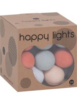 Σετ 20 φωτάκια διακόσμησης Happy-Λευκό - Πορτοκαλί  Κωδ 16412799 Μήκος 0.00 Βάθος 0.00 Ύψος 0.00