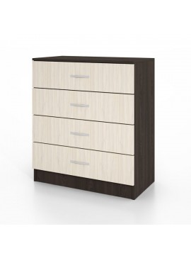 Συρταριέρα CITY3003 με 4 συρτάρια 80x43,5x91, Χρώμα Wenge-Sonoma. IR-CITY3003WEGE