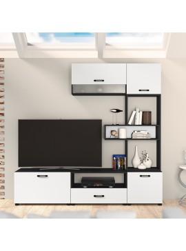 Σύνθεση τηλεόρασης CITY6030 6 τεμ. 189X43x168,5cm Μαύρο-Λευκό IR-CITY6030