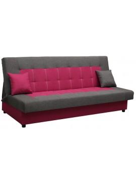 Καναπές - κρεβάτι Alistar-Γκρι - Ροζ  Μήκος 193.00 Βάθος85.00  Ύψος 89.00  16770729