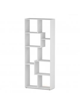 REGAL Βιβλιοθήκη 66*25*161, χρώμα λευκό.  KO-REGALWHITE