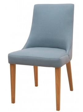 Καρέκλα Korina-Καρυδί ανοιχτό - Μπλε  Kωδ 16637769 Μήκος 50.00 Βάθος 54.00 Ύψος 91.00