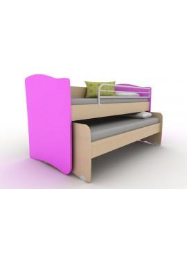 ΚΟΥΚΕΤΑ  IVREN ΧΑΜΗΛΗ  Twins Ir/218  για άνω κρεβάτι για στρώμα 90χ200cm  κάτω κρεβάτι για στρώμα 90χ190 cm ΧΡΩΜΑΤΟΣ  ΡΟΖ
