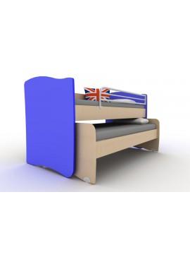 ΚΟΥΚΕΤΑ  IVREN ΧΑΜΗΛΗ  TwinsIr/218-BLUE  για άνω κρεβάτι για στρώμα 90χ200cm  κάτω κρεβάτι για στρώμα 90χ190 cm ΧΡΩΜΑΤΟΣ  ΜΠΛΕ