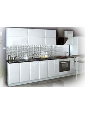Σύνθεση Κουζίνας μήκους 5.00 μ, MDF Glantz 280 με ΔΩΡΟ πάγκο 280 εκ., Genomax  12814-32382