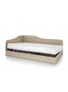 Κρεβάτι ημίδιπλο 120/190, city-2009 Χρώμα ΣΑΣΟ  με Δώρο μηχανισμό ανύψωσης, Genomax  12814-323351221