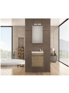 Drop Luxus 45 Wood Έπιπλο Μπάνιου Κρεμαστό 45cm Πλήρες Σετ