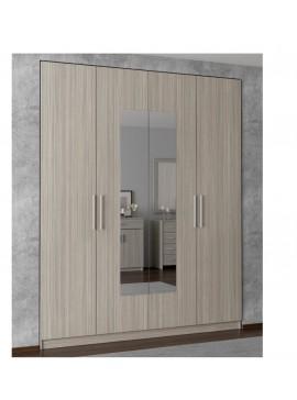 ΝΤΟΥΛΑΠΑ 4ΦΥΛΛΗ με καθρέφτη ΟΛΙΒ (182x220x60) cm ΣΑΒΒΙΔΗΣ ΜΑΖΙ  ΜΕ  ΑΜΠΑΛΑΖ