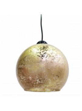 Φωτιστικό Γυάλινο, σε σχήμα μπάλα με Χρυσό φύλλο, διάμετρος 19cm. MEC-1910-31