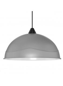 Φωτιστικό Κρεμαστό Μονόφωτο Γκρί Πλαστικό Ε27 32*32*70cm MEC-228GREY