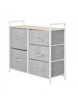 Μεταλλική Συρταριέρα με 5 Υφασμάτινα Κουτιά 83 x 29 x 77 cm HOMCOM 850-126  850-126