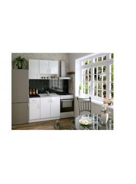 Σύνθεση Κουζίνας 2.40μ., Luxury 120, Genomax - Λευκό χρώμα 12814-325812323