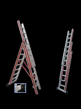 Profal Τριπλή Σκάλα Αλουμινίου 3x8 800308