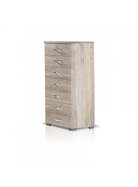 Heri Xylo  Συρταριέρα σειρά ΝΕΤ με 7 συρτάρια 60 cm x 124 x 43.5cm-ΚΩΔ. 09-01
