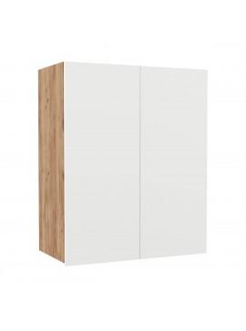 Επιτοίχιο ντουλάπι κουζίνας Soft Λευκό με βελανιδιά Διαστάσεις 60x30,5x72,8εκ SO-SV60