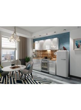 Σύνθεση Κουζίνας μήκος 2.60 μ, Luxury 260, Genomax  12814-33713