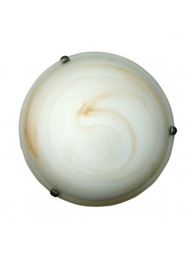 Φωτιστικό Οροφής, Χρώμα Μελί, Αλάβαστρο, με Διάμετρο 30 εκ.  1 Λάμπα Τύπου Ε27 (Max 40 Watt, δεν περιλαμβάνεται). TA-61930HA