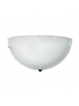 Φωτιστικό Τοίχου, Χρώμα Άσπρο, Αλάβαστρο, 30x15 εκ. 1 Λάμπα Τύπου Ε27 (Max 40 Watt, δεν περιλαμβάνεται). TA-6195WA