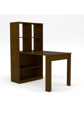 Γραφείο/Τραπέζι, Πολυχρηστικό, 80x133x150 Βέγγε, Με Ράφια, TO-120W