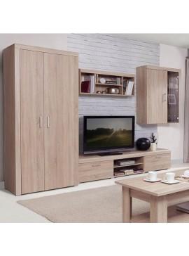 Σύνθεση TV 4 τεμ. 320.5x55x203 Χρώμα Sonoma. TO-DAMISSET3