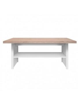 Τραπέζι Σαλονιού Law115x55εκ Λευκό-Sonoma TO-LAW115WHI