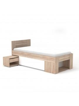 Rico Κρεβάτι 90x200 Με κομοδίνο, συρτάρι και τάβλες TO-RIC90