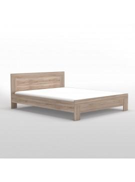 Κρεβάτι Solo 160x200 Διπλό, Sonoma και MDF Καμπυλωτό τελείωμα TO-SOLO160