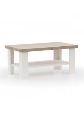 VERNE ΤΡΑΠΕΖΙ ΣΑΛΟΝΙΟΥ 110x60x46.4cm χρώμα Λευκό/Φυσικός Δρυς. TO-VERNECOFFEE