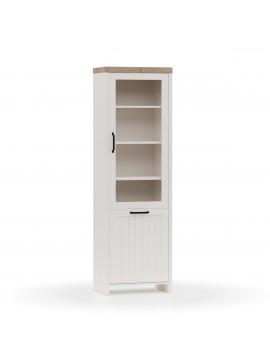 VERNE BITPINA 59.7x37.2x191.6cm χρώμα Λευκό/Φυσικός Δρυς. TO-VERNEWIT1W1D